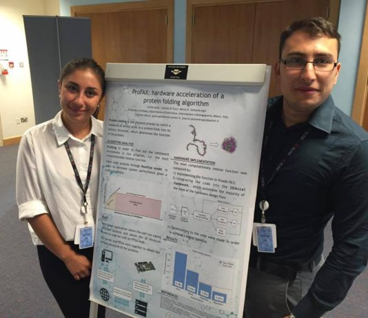 Giulia e Lorenzo with the presentation of their ProFax project