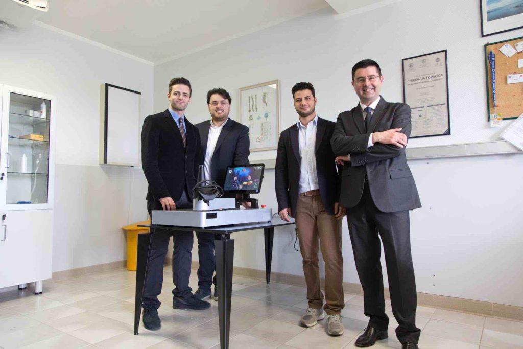 Parte del team che compone ICan robotics(da sinistra a destra): Ing. Angelo Sudano, Ing. Ezio Rifino, Ing. Mario Donnici, Prof. Dino Accoto