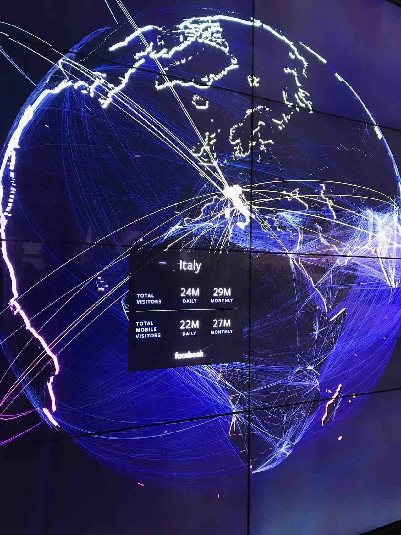 Visitatori italiani quotidiani su Facebook: 24 milioni