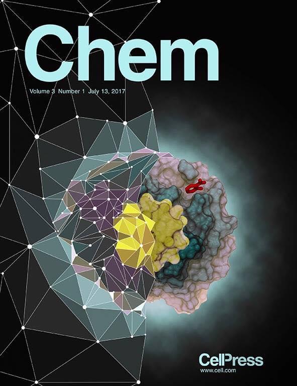 Nanoparticella di oro stilizzata in copertina sulla rivista Chem